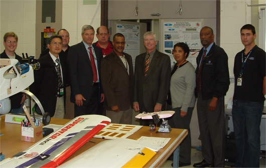ARL Visit - Director Miller, ARL staff, and Morpheus